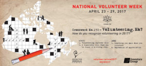 National Volunteer Week 2017 Banner